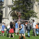 Maypole Dance at the UU Service, 05/03/2009