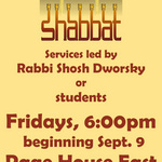 Fall 2011 Shabbat Services Poster