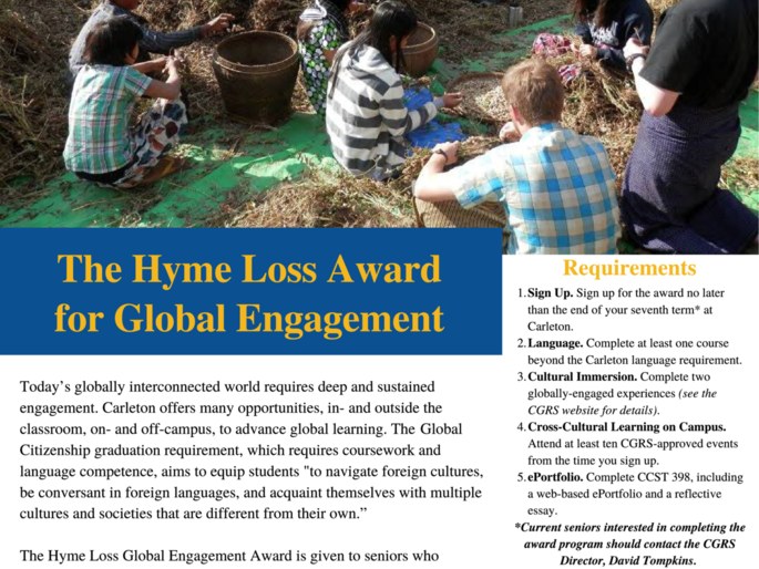 Hyme Loss Award for Global Engagement