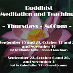 Fall 2011 Buddhist Meditation Poster