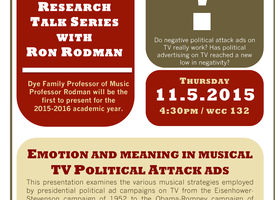 AMST/Music Faculty Research talk by Ron Rodman