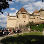 Discussing Rousseau at the Château de Chillon (Lake Léman, Switzerland)
