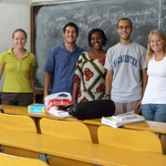 Students learning Swahili in the classroom