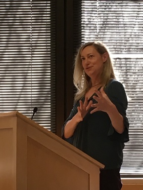 Associate Professor of Religion Kristin Bloomer at May book forum