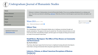 Undergraduate Journal of Humanistic Studies
