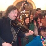 Students enjoyed musical performance at Purim/Holi.