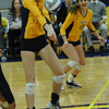 Lucy Stevens, women's volleyball action