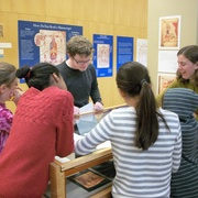 Prairie Creek Elementary students learn about medieval manuscripts