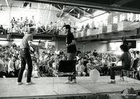 Cujokra performs in the Sayles Great Space in the 1980's.