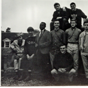 Image from the 1963 Algol of Peter Tork (second from left) with fellow classmates.