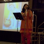 Religion Professor Shana Sippy speaks at the Holi Celebration