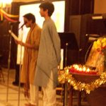 Student speakers at Holi Celebration