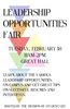 Leadership Opportunities Fair