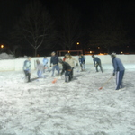 Broomball Action