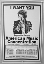 Poster for the new American Music concentration