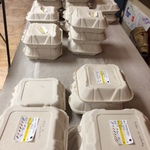 Recovered food in individual servings for Greenvale School