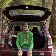 Cooper Dodds '13 relaxing with his car Gladys in a national park in Western USA.