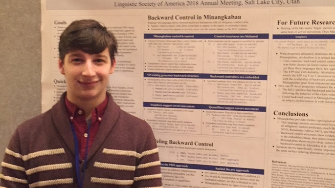 Dan Brodkin '18 presenting at the Linguistics Society of America 2017 Annual Meeting