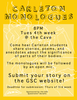 Poster for Carleton Monologues