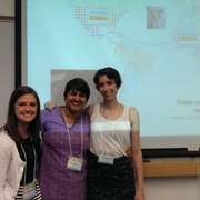 Sami Saltzman, Anita Chikkatur, and Maddie Ulanow at the Upper Midwest Civic Engagement Summit