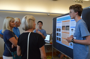 Our Institute culminates with a research poster presentation open to the campus and public.