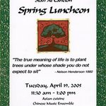 Spring Luncheon Invitation