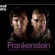 "Promotional poster for the National Theatre Live production of ""Frankenstein."""