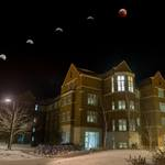 Super Blood Wolf Moon eclipse over the Carleton campus