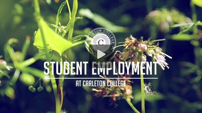 A placard image for media work Student Employment at Carleton