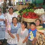 Group of Mayan people at the market