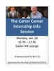 Carter Center internship