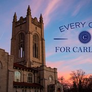 "Exterior shot of Skinner Chapel announcing ""Every Carl For Carleton."""