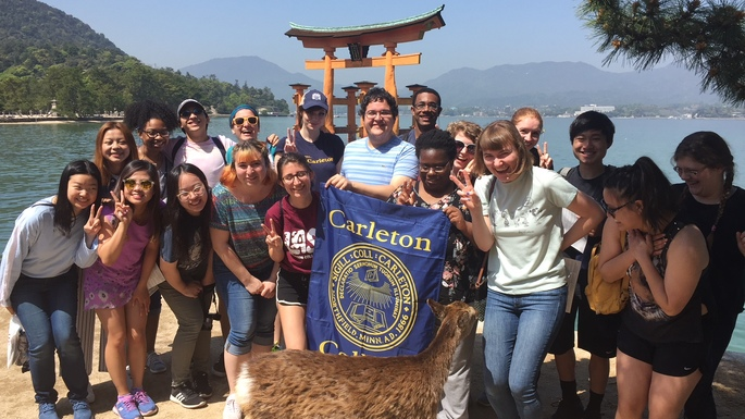 The Kyoto 2018 students visiting Miyajima island