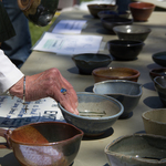 The annual Empty Bowls fundraiser in the Bald Spot.