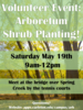 Arboretum Work Event: Come plant shrubs in the Upper Arboretum to restore it!