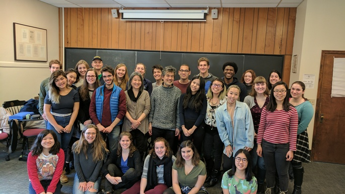 David Henry Hwang with ENGL 235 Students
