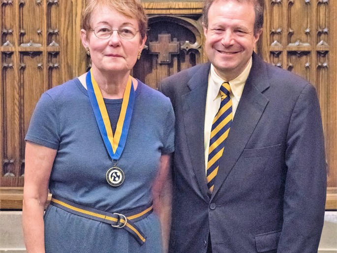 Marianne Culhane with President Poskanzer