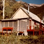 """G2V"", the Goulds' summer cabin near Jackson Hole, Wyoming."