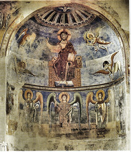 Apse Fresco in the Church of Sant'Angelo in Formis (Capua Vecchia)