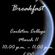 March 11 -- Late Night Breakfast: A Carleton tradition!