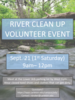 River Clean Up Volunteer Event - Publicity Poster