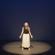 Lucia Webb '16 in her solo dance during Ephemera