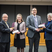 Carleton, St. Olaf make annual donation to city of Northfield.