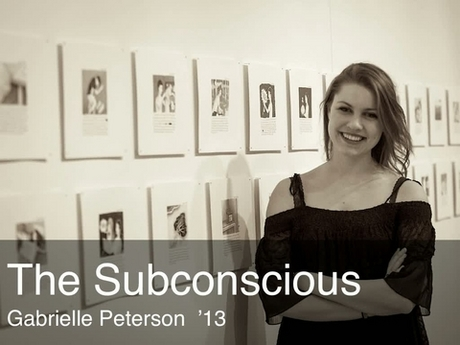 A placard image for media work Gabrielle Peterson - The Subconscious *new*