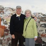 Steve and Penny in Santorini