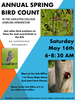 Poster for the 2015 Annual Bird Count