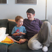 Todd Drezner '94 with his son, Sam