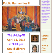 FRIDAY, APRIL 11 3:45, Athenaeum, REFRESHMENTS!