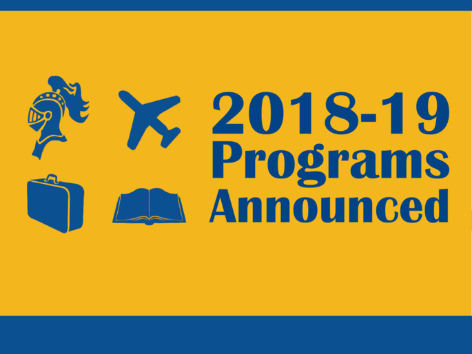 2018-19 Programs Announced!