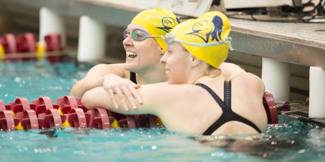 Women 39 S Swimming And Diving At Miac Championships Varsity Athletics Carleton College